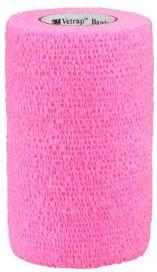 3M Vetrap Equine Cohesive Bandage Hot Pink 10cm