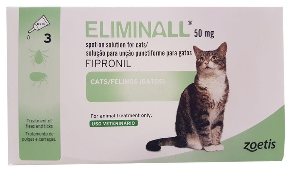 Eliminall Spot-On Solution for Cats 50mg Pack of 3