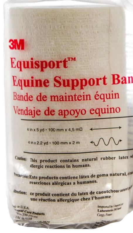 3M Equisport Equine Support Bandage White 10cm