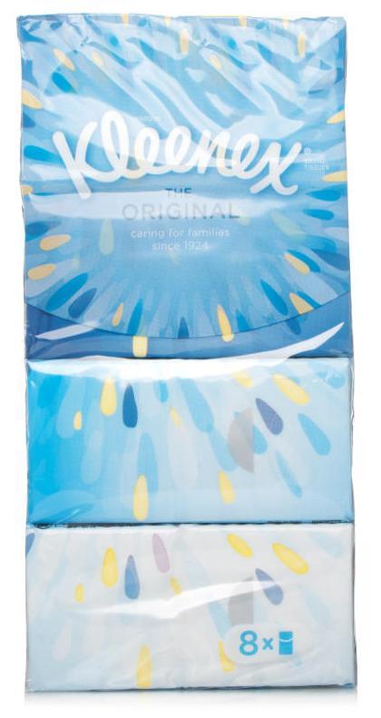 Kleenex Everyday Pocket Pack Tissues Pack of 8
