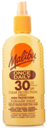 Malibu Once Daily Clear Lotion SPF30 200ml
