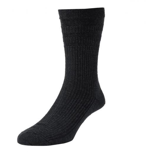 Solesee Softop Diabetic Socks Black One Pair Size 4 - 7