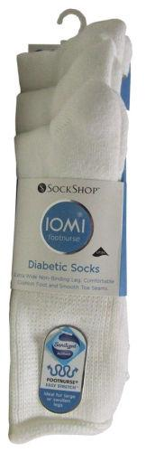 Iomi Diabetic Socks Mens Size 6 - 8.5 Pack of 3