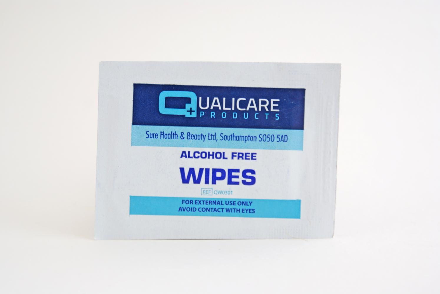 Qualicare Alcohol Free Wipes Pack of 100