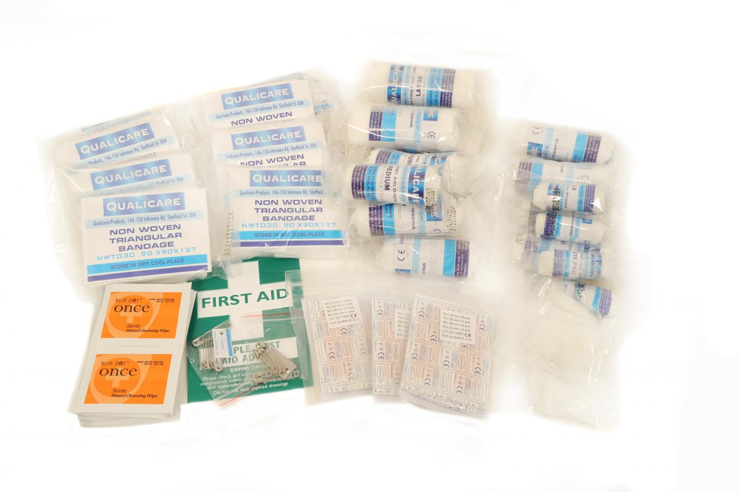 Qualicare First Aid Kit for 1 - 50 People Refill