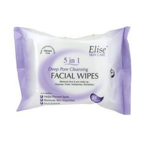 Elise Deep Pore Cleansing Wipes Pack of 25