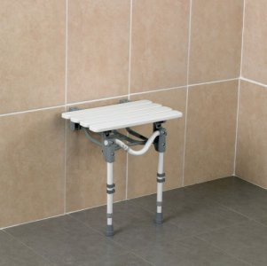Patterson Wall Mounted Shower Seat Slatted Standard