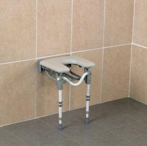Patterson Shower Seat Wall Mounted Padded Horseshoe Seat