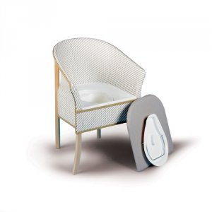 Patterson Basketweave Commode Chair