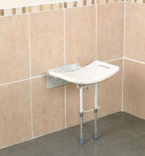 Patterson Wall Mounted Shower Contoured Seat with Legs