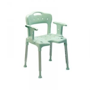 Patterson Shower Stool with Back and Arms Blue