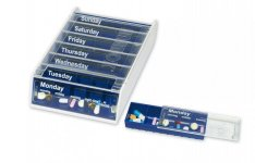 Patterson Weekly Pill Organiser Blue