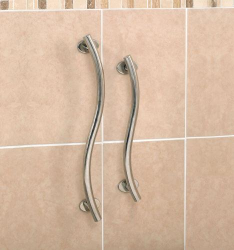 Patterson Luxury Curved Grab Rail Stainless Steel 30.5cm/12