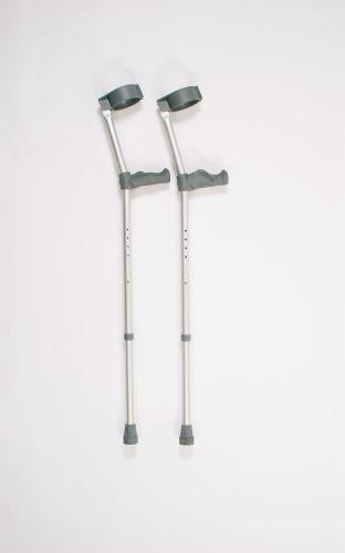 Patterson Crutches Pair Adult Double Adjustable Ergonomic (124A)