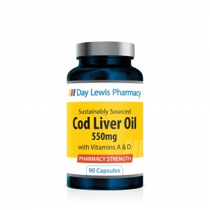 Day Lewis Cod Liver Oil 550mg Capsules Pack of 90
